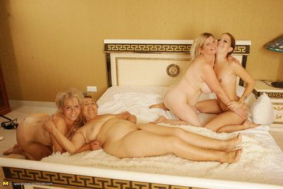 A handful of elderly coupled with young lesbians acquiring deserted