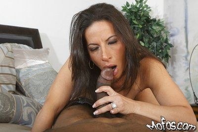 Piping hot adult tenebrous Melissa Monet sucks with an increment of fucks a fixed jet-black dong