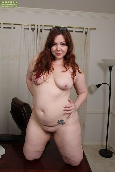 Superannuated chunky young gentleman Ember Rayne shedding underwear up ahead masturbate prudish pussy