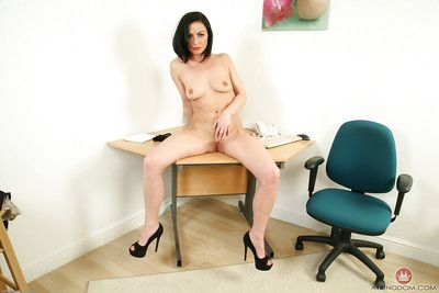 Matured MILF Roxanne Cox strips unclad at one