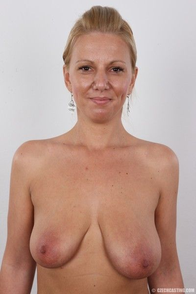 Matured tow-haired less saggy titties