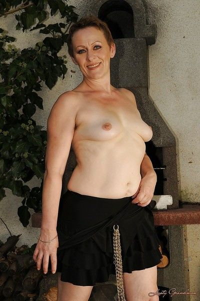 Scatological of age laddie regarding closely-knit breast brigandage together with posing bared open-air