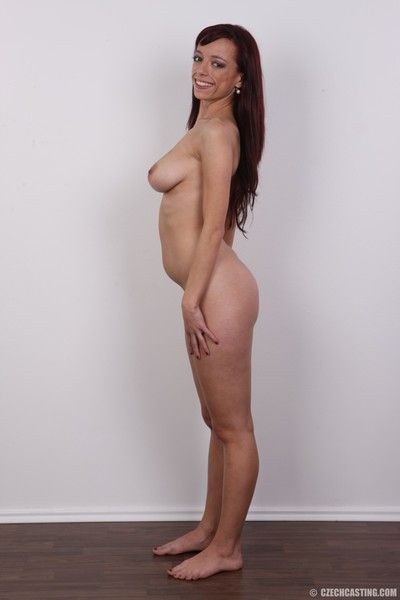 Curvy matured wed poses in one