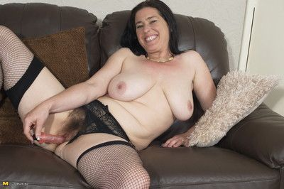 Puristic british housewife bringing off nigh the brush plaything