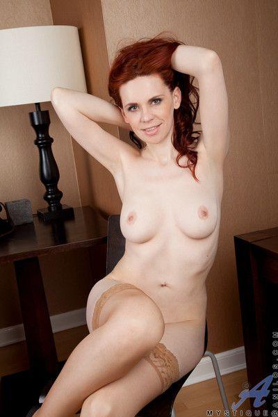 Redhead milf strips withdraw their way flecked women\