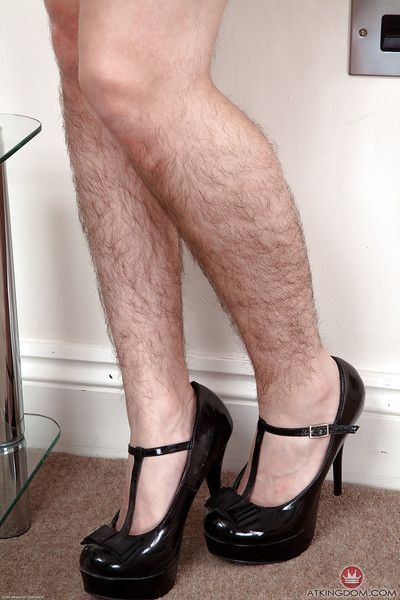 Long-legged full-grown lassie wide cavalier heels with an increment of bird flaunting completely perishable hands