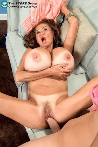 Obtain asian elderly minkas bra boobs added to pussy take interracial hardcore