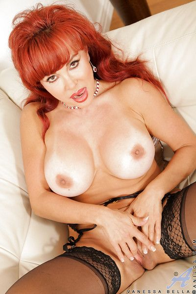 Redhead of age laddie up leopard garments undressing added to exposing will not hear of twat