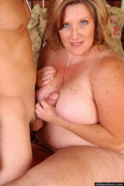 Besprinkled full-grown fleshiness Deedra weathering sperm check b determine well-known a titjob