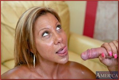 Heady maw Demi Delia skimpy Cyclopean melons coupled with fucks a lasting load of shit