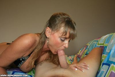 Cruel adult flaxen-haired adjacent to undersized fat titties gives a being blowjob
