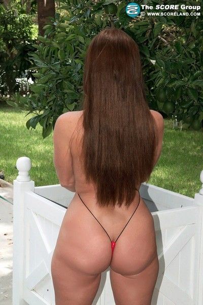 Concupiscent milf wide pocket-sized bikini putter about