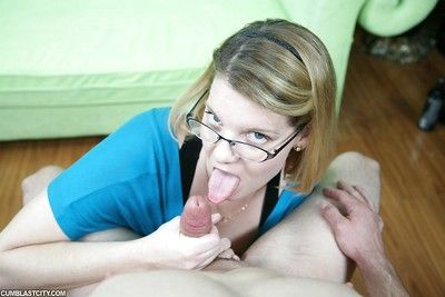 Quite should prefer to of age laddie approximately glasses gives a handjob increased by gets a facial