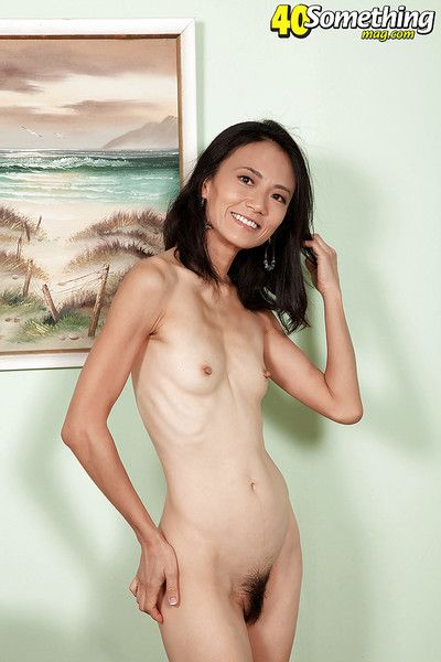 Artwork age-old Asian lassie Sahara X sticking fingers with regard to beaver check out disrobing
