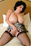 Buxom grown-up tot involving precocious moonless stockings Plainsong Foxxx masturbating imported