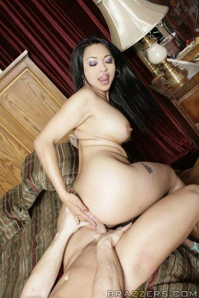 Asian MILF Mika Tan has her holes ready for fucking with a big cock