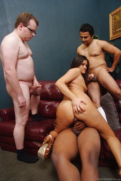 Asian starlet Cece Stone gets gang-banged and creamed on by hung studs