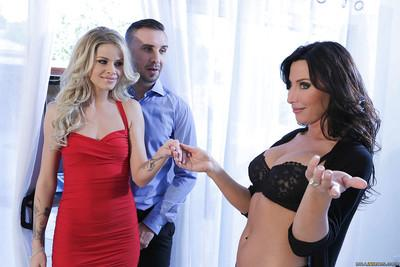 Jessa Rhodes and Lezley Zen are sharing one dick and sperm by the boss