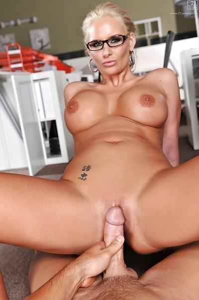 Big tits office Milf Phoenix Marie receives lots of cum in pussy