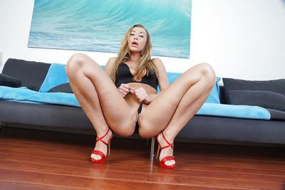Blonde Euro mummy Rita Rus showing off fine thing covered ass