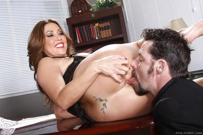 Big busted MILF on high heels Kianna Dior gets her love holes licked