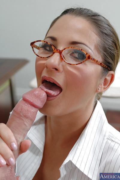 Astounding teacher Baby Jayne is fucking with the gym teacher