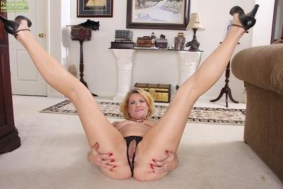 Miraculous milf in black dress Kelsey Johnson exposes her panties