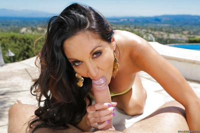 Outdoor threesome sex with a remarkable milf babe Ava Addams