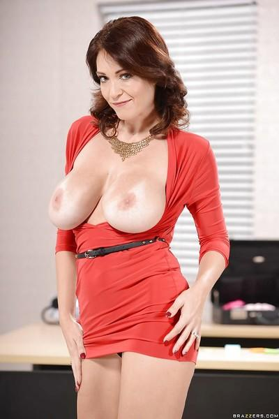 Big titted milf Charlee Chase seduces everyone with her gsexy holes