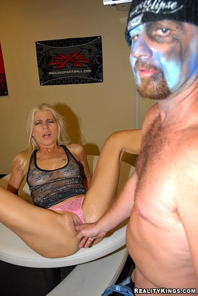Skinny milf captured, fucked and jizzed by hardcore sex lover