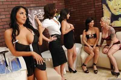 Latin lesbian MILF Nina Mercedez gets roughly punished with a strapon