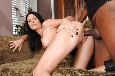Interracial fucking with a hardcore brunette Ashli Ames and BBC