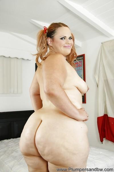 Fatty bitch Victoria undressing her huge ass and big boobies too