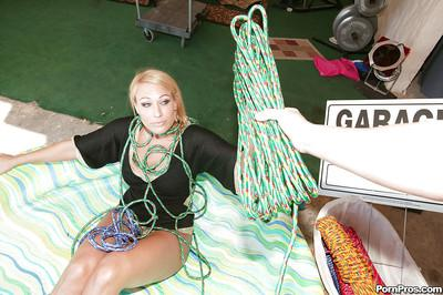 MILF Melanie Monroe gets fucked with toys and a big dick in bondage