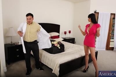Sex-hungry MILF Eva Karera seduces a naughty lad to play with his hard dick