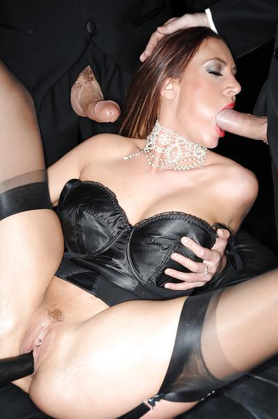 Charming hooker in black stockings Jordan Kingsley gets used