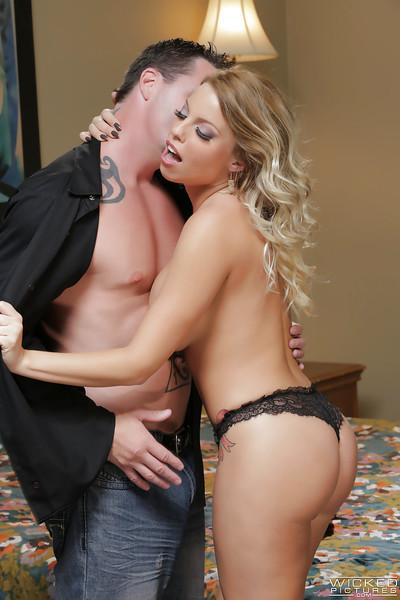 Hot blonde Britney Amber goes ass to mouth after anal fucking