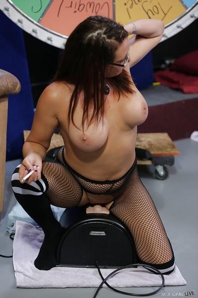 Beautiful brunette Tory Lane is smoking like fucking her tight holes