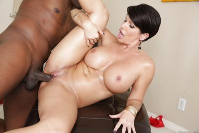 Awesome big tit milf Shay hardcore interracial pussy fucking