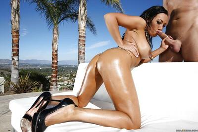Passionate outdoor fucking with a horny latina named Rio Lee