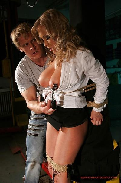 Big busted blonde MILF Jessica Moore is into hardcore BDSM fucking