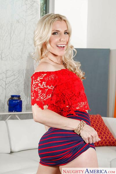Super horny blonde MILF Ashley Fires getting wet in high heels