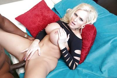Dick loving MILF Alena Croft shoving a monster cock up her pussy