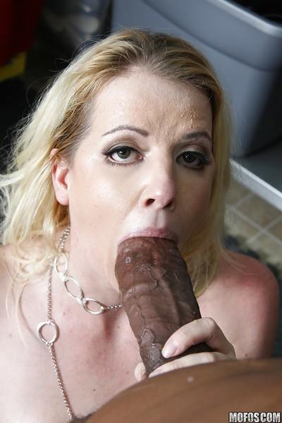 Hot MILF Anita Blue gets her holes stretched by monstrous black dick