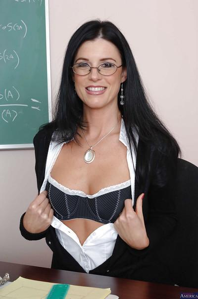 Milf teacher India Summer shows her sexy ass while undressing