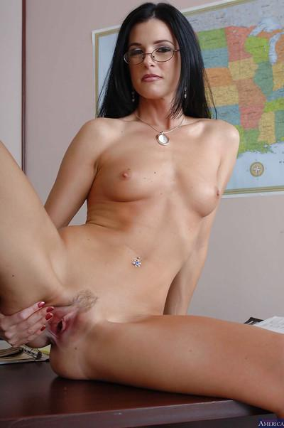 Milf teacher India Summer shows her sexy ass while undressing