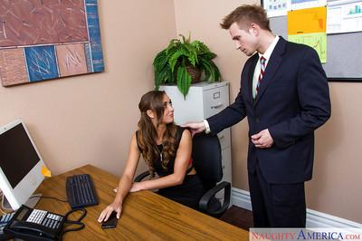 Doggy style banging with a hardcore innocent office milf Marry Lynn