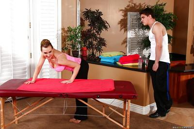 Milf pornstar Tanya Tate is relaxing while her masseur is fingering her