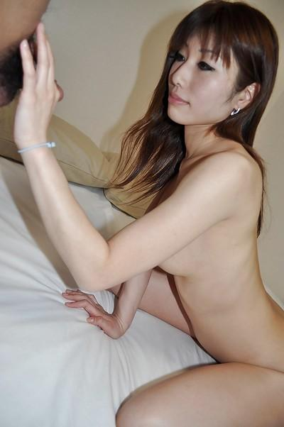 Asian chick Kaoru Fujitani gets her trimmed pussy boned-up and creampied
