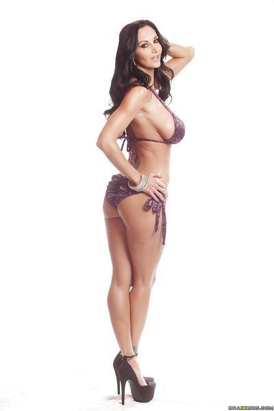 Big tits and long legs of a marvelous milf Ava Addams shown in bikini
